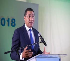 Prime Minister Andrew Holness pointed out that the Ministry of Tourism in collaboration with the Tourism Enhancement Fund has been working to improve public beaches. (Photo via Andrew Holness' official Facebook page.)