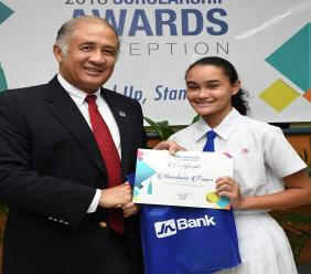 A recent graduate of Immaculate Preparatory School in St Andrew, Anastasia is the 2018 recipient of the JN Foundation's Grade Six Achievement Test (GSAT) Scholarship for the parish of St Andrew.