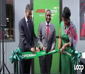 JMMB Express Finance opened on  Wednesday in Chaguanas.