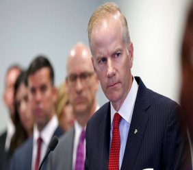 U.S. Attorney William McSwain is shown at a news conference in Philadelphia. McSwain sent out grand jury subpoenas last week to Pennsylvania dioceses as part of a federal investigation of clergy abuse in Catholic churches. (David Maialetti/The Philadelphia Inquirer via AP, File)