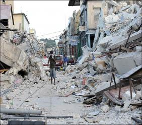 Photo: Haiti was devastated by a 7.0 earthquake which occurred in 2010.