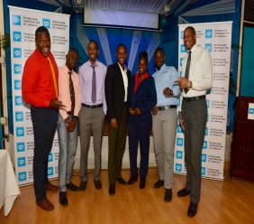 The new cohort of young professionals employed under the Petroleum Corporation of Jamaica's (PCJ) Graduate Internship Programme (from left) Garfield Morrison, Jowayne Haughton, Theomore Brown, Lenworth Pryce, Diana Daley, Kevel Daley and Kasheif Spencer.