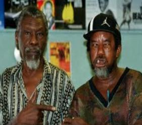 """The legendary Clement """"Sir Coxsone"""" Dodd (left) with King Stitt, known as 'The Ugly One'."""