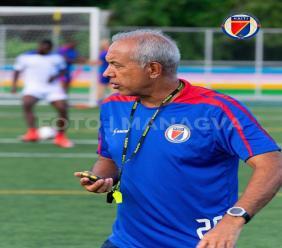 Le coach de la sélection haïtienne de football, Marc Collat. Photo: FHF