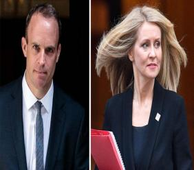 Brexit Secretary Dominic Raab and Work and Pensions Secretary Esther McVey