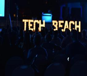 Participants attend a Tech Beach Retreat welcome reception at Iberostar Hotel in Montego Bay, St James on Thursday night. (PHOTOS: Ramon Lindsay)