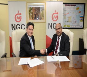 Caption (Left to Right) Mark Loquan- President, NGC; Jerome Dookie- CEO, Nitrogen 2000 Unlimited. Photo: NGC.