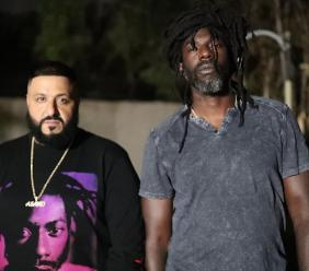 Reggae icon Buju Banton (right )with American hip hop executive DJ Khaled in Jamaica. (PHOTOS: DJ Khaled Instagram)