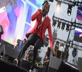 Popcaan performs at Reggae Sumfest earlier this year.