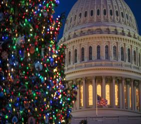 The Capitol is seen at twilight in Washington, Monday, Dec. 17, 2018. (AP Photo/J. Scott Applewhite)