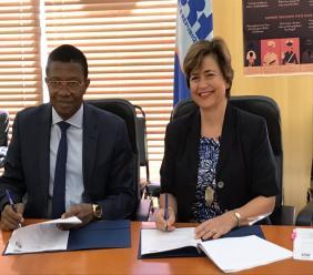 Signature d'un protocole d'accord entre la BRH et l'Ambassade Britannique en Haïti.