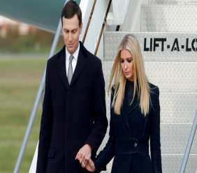In this Oct. 30, 2018, file photo, Ivanka Trump, right, departs Air Force One with Jared Kushner in Coraopolis, Pa