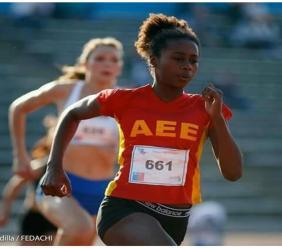 Une athlète d'origine haïtienne devient le nouvel espoir du Chili. Photo: Instagram