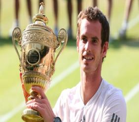 Andy Murray following his 2013 Wimbledon triumph.