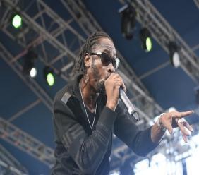 Rodney Pryce (aka, Bounty Killer) performs at Rebel Salute on Sunday morning. (PHOTO: Marlon Reid)