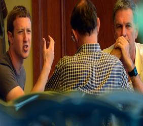 Facebook CEO Mark Zuckerberg, left, and Netflix CEO Reed Hastings, right