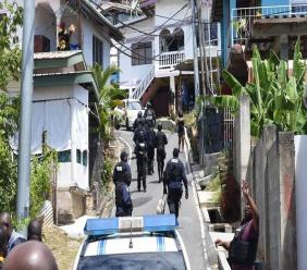 Photo; Police operations led to the detention of several people including an alleged gang leader on February 13, 2019. Police Commissioner Gary Griffith put the TTPS on red alert as they carried out a series of intelligence-led police exercises which will continue in the coming months. Photo courtesy the office of the Police Commissioner.