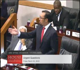 Photo: Minister of National Security and Communications, Stuart Young.