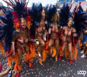 Revelers from the band Bliss in the recently concluded T&T Carnival.
