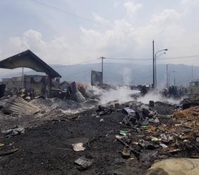 Scène de désolation au marché de la Croix-des-Bossales suite à l'incendie du 18 mars 2019/ Montage : Luckenson Jean/ LoopHaiti