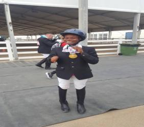 Darlene Milord avec sa médaille d'or