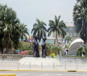 An exterior view of a section of Emancipation Park in St Andrew.