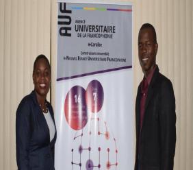 Les jeunes orateurs Esther Grégoire et Jerry Syverain - Crédit Photo : AUF