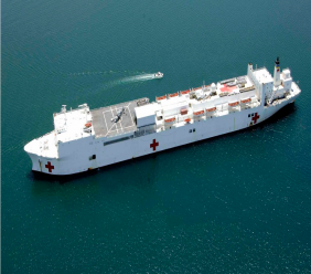 Photo: The USNS Comfort is heading for the Caribbean and South and Central America to offer aid to Venezuelan refugees. Photo via Wikipedia.