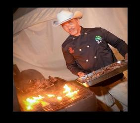 David Bucknor, head chef and owner of Sheriff Gourmet BBQ is promising a finger-licking experience with his Tai Cowboy Curry BBQ Sauce at the Kingston Curry Festival at Hope Zoo on May 22.