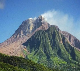 Soufriere Hills Volcano in Monsterrat erupted in 1995 wiping out several communities.