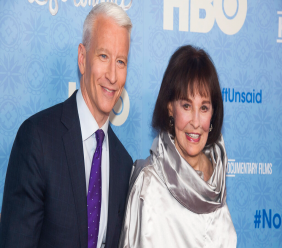 """FILE - In this April 4, 2016 file photo, CNN anchor Anderson Cooper and Gloria Vanderbilt attend the premiere of """"Nothing Left Unsaid"""" at the Time Warner Center in New York. (Photo by Charles Sykes/Invision/AP, File)"""