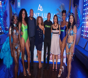A contingent from Saint Lucia was recently in Trinidad to promote the island's Saint Lucia Siummer Festival