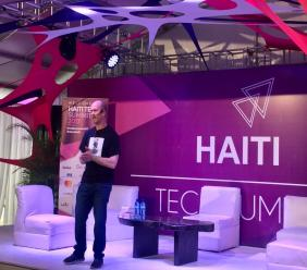Ben Horowitz (investisseur de Facebook et Twitter) à l'édition 2017 de Haiti Tech Summit./Photo: Loop Haiti-archives.