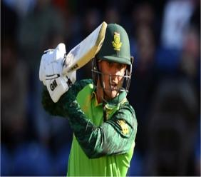 South Africa's Quinton de Kock in action against Afghanistan.