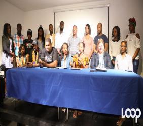 Les organisateurs et partenaires d'Haiti Tech Summit, en conférence de presse pour faire le bilan de la troisième édition de l'événement / Photo: Luckenson Jean