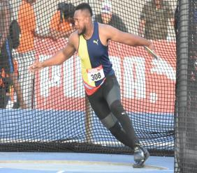 Traves Smikle competes in the men's discus at the JAAA/Supreme Ventures National Senior and Junior Championships at the National Stadium on Saturday, June 22, 2019. (PHOTOS: Marlon Reid).