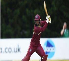 West Indies batsman Sunil Ambris.