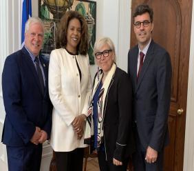 Des membres de la Commission des droits de la personne et des droits de la jeunesse (CDPDJ) du Québec