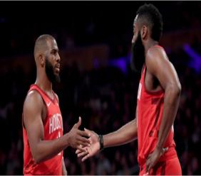 Chris Paul (left) and James Harden.