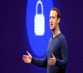FILE - In this May 1, 2018, file photo, Facebook CEO Mark Zuckerberg delivers the keynote speech at F8, Facebook's developer conference, in San Jose, Calif. Federal regulators are fining Facebook $5 billion for privacy violations and instituting new oversight and restrictions on its business. (AP Photo/Marcio Jose Sanchez, File)