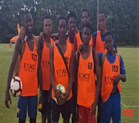 Group of players from the Barbados national U17 men's football team