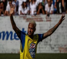Le Brésilien Neymar lors d'un match de charité à Sao Paulo le 13 juillet 2019