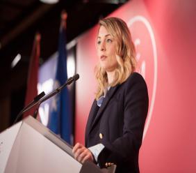 Mélanie Joy, ministre du Tourisme, des langues officielles et de la francophonie./Photo: Le Devoir.