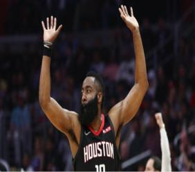 Houston Rockets point guard James Harden.