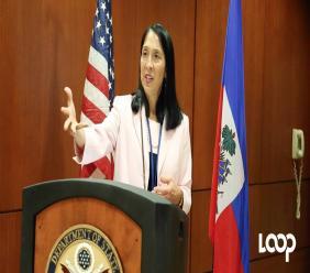 L'ambassadeur des Etats-Unis en Haïti, Michele J. Sison/ Photo: Loop Haiti