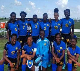 Barbados' Under 17 Women's team - the Tridents