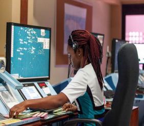 Flight Data Processor at the Kingston Air Traffic Control Centre.