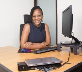 Kerron Clarke-Barrett, Red Stripe Global Information Services (GIS) Manager, keeps her edge by holding true to her values and a positive outlook. She is a role model for women who not only have an interest in IT, but in male-dominated careers.