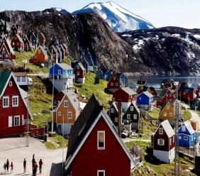 This July 11, 2015 file photo shows a general view of the town of Upernavik in western Greenland. (Linda Kastrup/Ritzau Scanpix via AP)