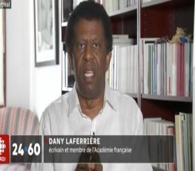 Dany Laferrière/ Capture d'écran sur ICI RDI.